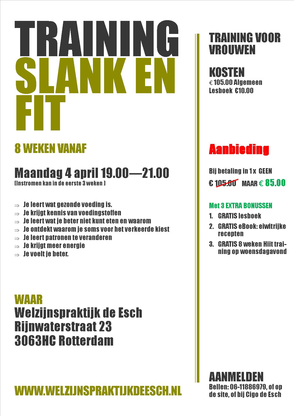 Flyer Training Slank en Fit